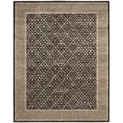 Veda Charcoal Area Rug Rug Size: Rectangle 8 x 11