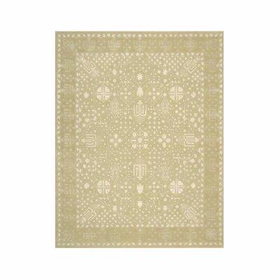 Veda Hand-Tufted Gold Oak Area Rug Rug Size: 56 x 75