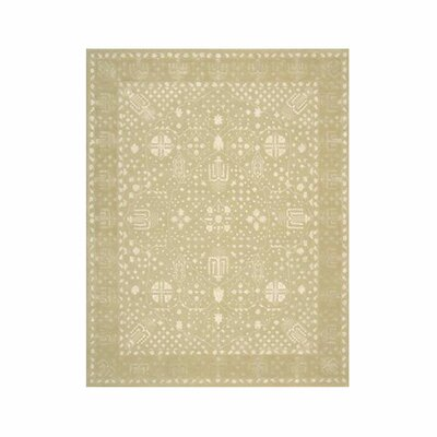 Veda Hand-Tufted Gold Oak Area Rug Rug Size: 8 x 11