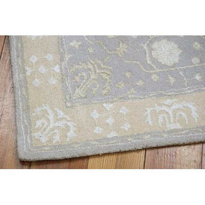 Veda Hand-Tufted Blue Mist Area Rug Rug Size: Rectangle 76 x 96