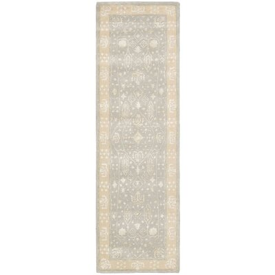 Koutio Hand-Tufted Blue Mist Area Rug Rug Size: Runner 23 x 8