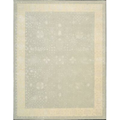 Koutio Hand-Tufted Blue Mist Area Rug Rug Size: 36 x 56