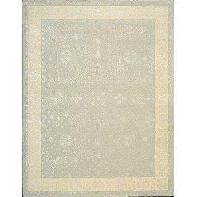 Veda Hand-Tufted Blue Mist Area Rug Rug Size: 56 x 75