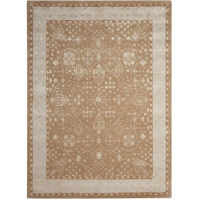 Veda Hand-Tufted Warm Taupe Area Rug Rug Size: Rectangle 96 x 13
