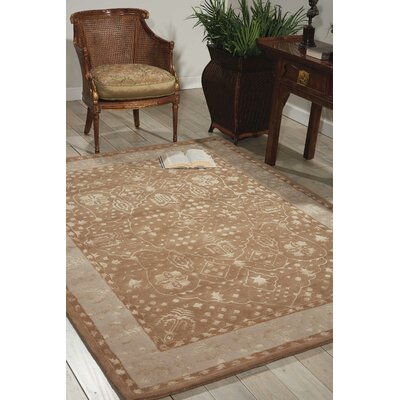 Veda Hand-Tufted Warm Taupe Area Rug Rug Size: 56 x 75