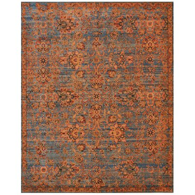 Pilou Teal/Orange Area Rug Rug Size: Rectangle 56 x 8