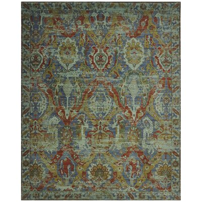 Pilou Wool Turquoise Area Rug Rug Size: Rectangle 56 x 8