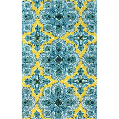 Lahna Gold/Blue Stars Area Rug Rug Size: 76 x 96