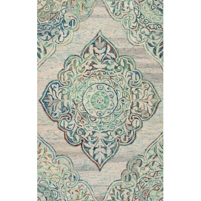 Luther Hand-Tufted Green Area Rug Rug Size: 4 x 6