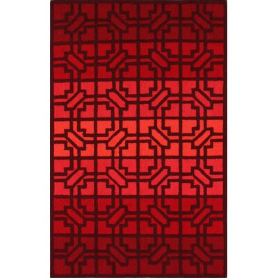 Wilbur Fire Red Area Rug Rug Size: Rectangle 5 x 8