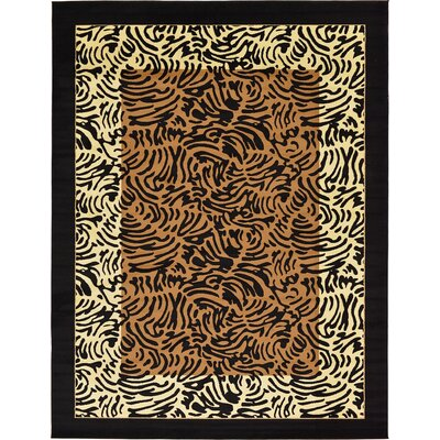 Leif Light Brown Area Rug Rug Size: 9 x 12