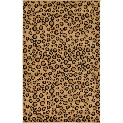 Leif Light Brown Area Rug Rug Size: 5 x 8