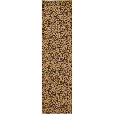 Leif Light Brown Area Rug Rug Size: Runner 27 x 10