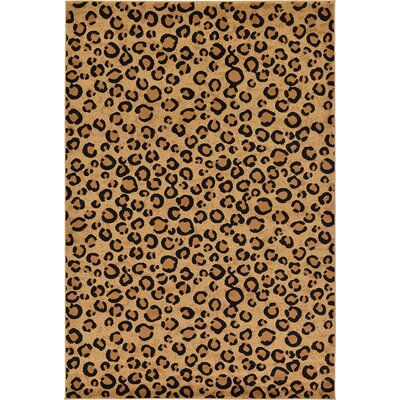 Leif Light Brown Area Rug Rug Size: Rectangle 7 x 10