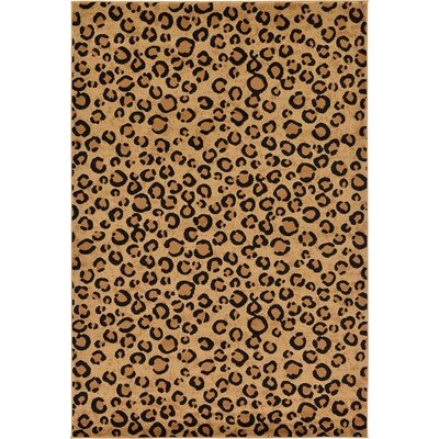 Leif Light Brown Area Rug Rug Size: Rectangle 6 x 9