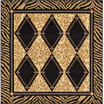 Leif Light Brown Area Rug Rug Size: 6 x 6