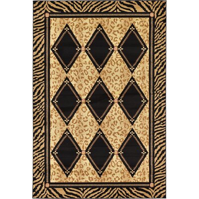 Leif Light Brown Area Rug Rug Size: 6 x 9