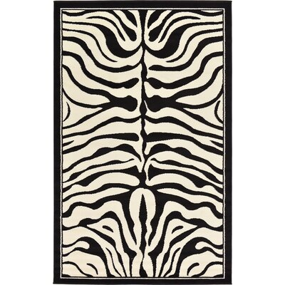 Leif Black Area Rug Rug Size: Rectangle 5 x 8