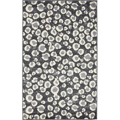 Leif Dark Gray Area Rug Rug Size: Square 6 x 6