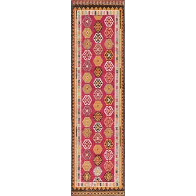 Broadway Red Area Rug Rug Size: Runner 27 x 10