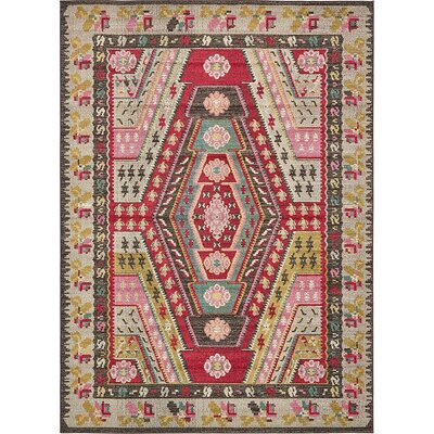 Broadway Brown/Cream Area Rug Rug Size: 7 x 10
