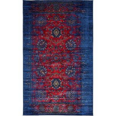 Figueroa Burgundy/Blue Area Rug Rug Size: 10 x 13