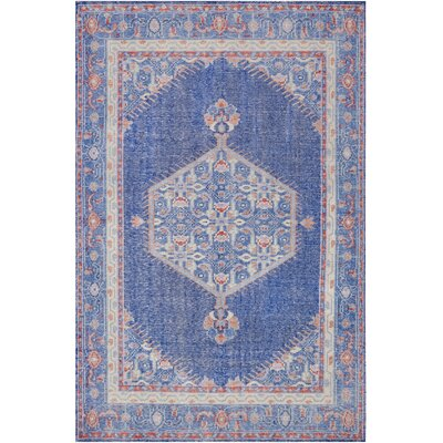 Fender Hand-Knotted Blue Area Rug Rug Size: Rectangle 56 x 86