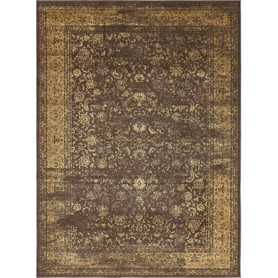 Tongouin Imperial Brown Area Rug Rug Size: 5 x 8