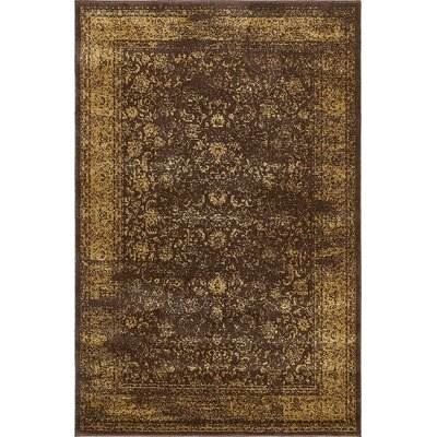 Tongouin Imperial Brown Area Rug Rug Size: 4 x 6