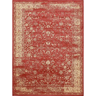 Tonsey Imperial Red Area Rug Rug Size: 9 x 12