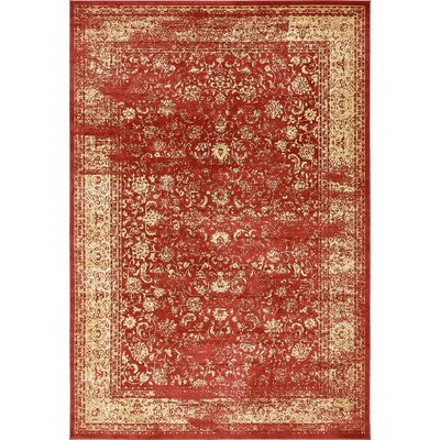 Tonsey Imperial Red Area Rug Rug Size: 10 x 145