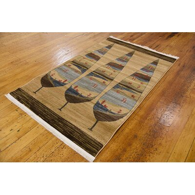 Foret Noire Tan Area Rug Rug Size: Rectangle 33 x 53