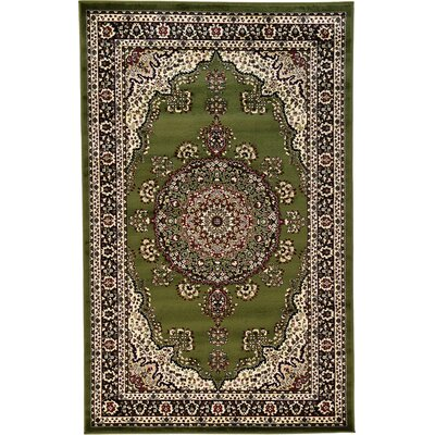 Essehoul Green Area Rug Rug Size: 5 x 8