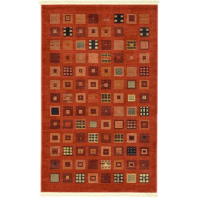 Jan Brown Area Rug Rug Size: Rectangle 33 x 53