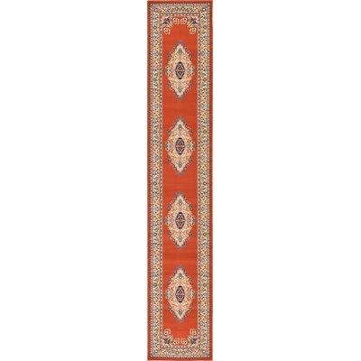 Astral Terracotta Area Rug Rug Size: Runner 27 x 10