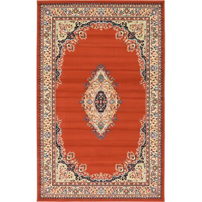 Astral Terracotta Area Rug Rug Size: 7 x 10