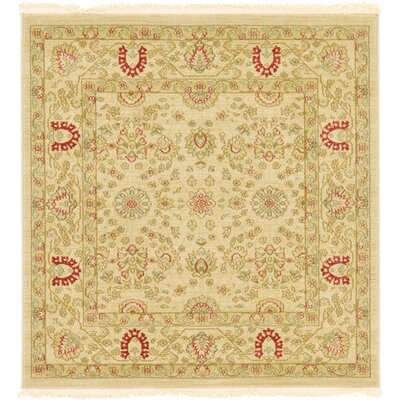 Fonciere Cream Area Rug Rug Size: Square 4'