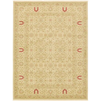 Fonciere Cream Area Rug Rug Size: 3'3