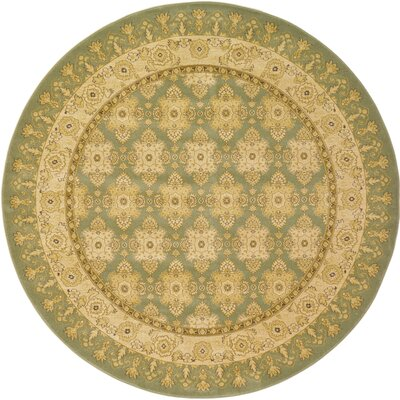 Fonciere Light Green Area Rug Rug Size: Round 8'