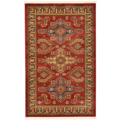 Valley Red Area Rug Rug Size: 5 x 8