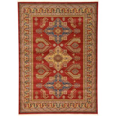 Valley Red Area Rug Rug Size: 7 x 10