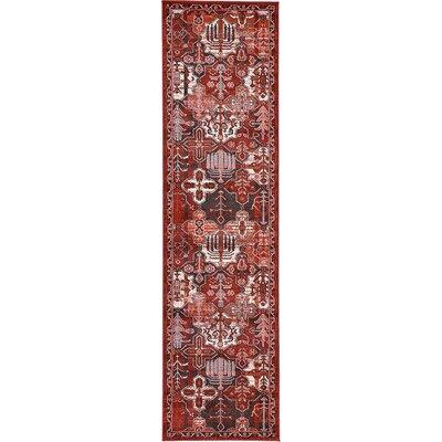 Karlovice Terracotta Area Rug Rug Size: Runner 27 x 10