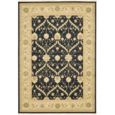 Jamar Black Area Rug Rug Size: Rectangle 5 x 8