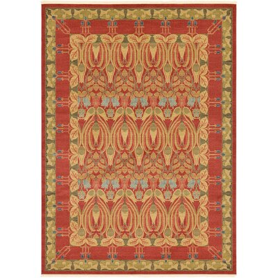 Fonciere Red Area Rug Rug Size: Rectangle 8 x 112