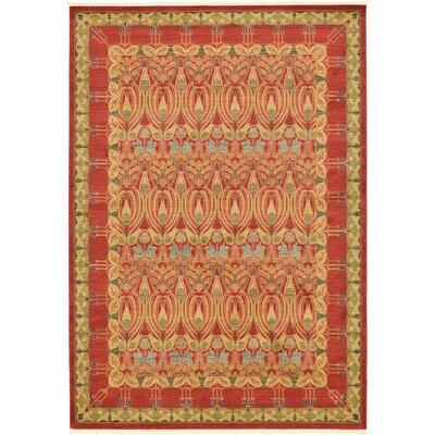 Fonciere Red Area Rug Rug Size: Rectangle 7 x 10