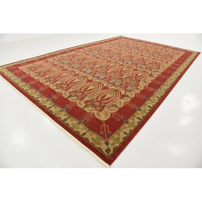 Fonciere Red Area Rug Rug Size: Rectangle 106 x 165