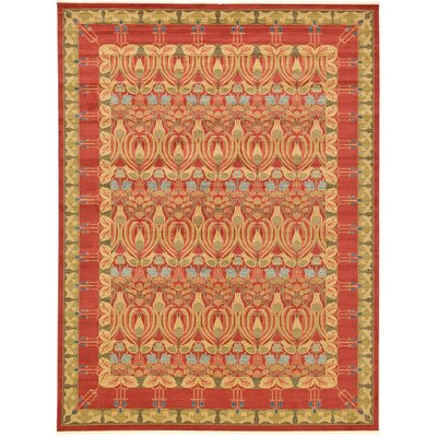Fonciere Red Area Rug Rug Size: 106 x 165