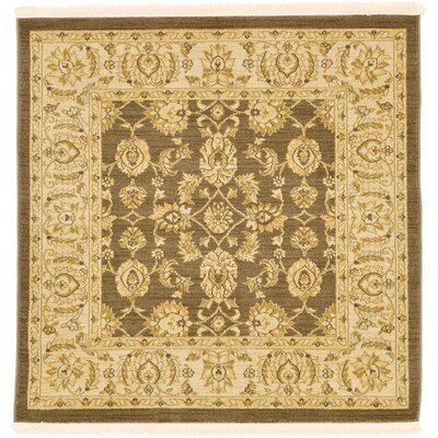 Fonciere Brown Area Rug Rug Size: Square 4