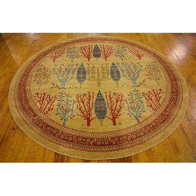 Jan Mustard/Orange Area Rug Rug Size: 6 x 9