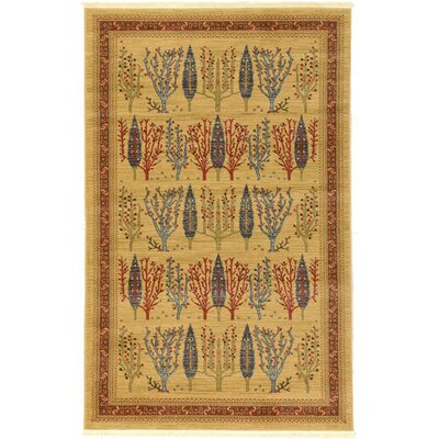 Virginia Mustard/Orange Area Rug Rug Size: Rectangle 5 x 8